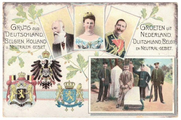 Grußkarte DEUTSCHLAND - NEDERLAND - gelaufen 1912 #ak0044