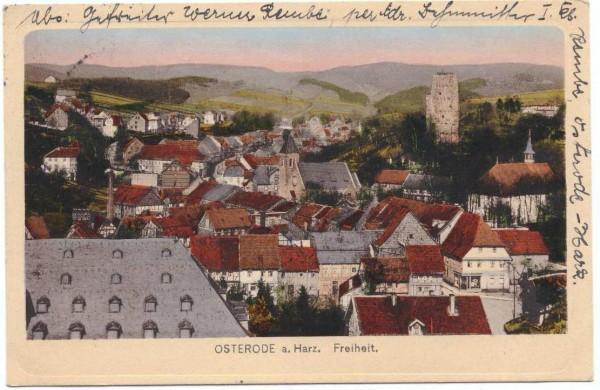 AK - OSTERODE - FREIHEIT - gelaufen 1919