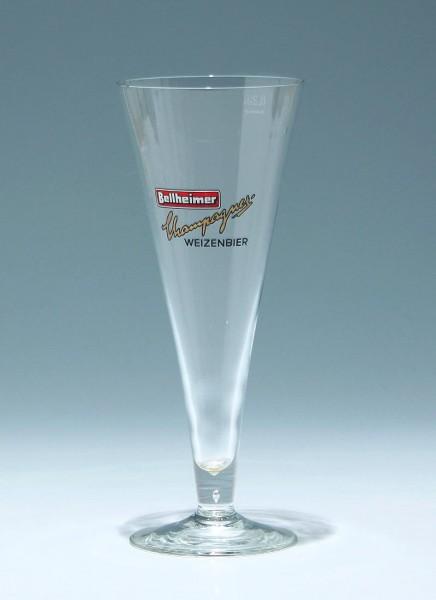 Weizenbierglas BELLHEIMER CHAMPAGNER WEIZENBIER 0,25 L.