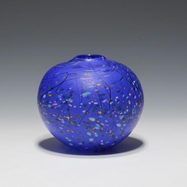 British Studioglass Vase signed Peter Layton - 11,7 cm