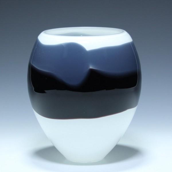 Lino Tagliapietra Glas Vase - signiert Effetre International Murano 1990 No.2