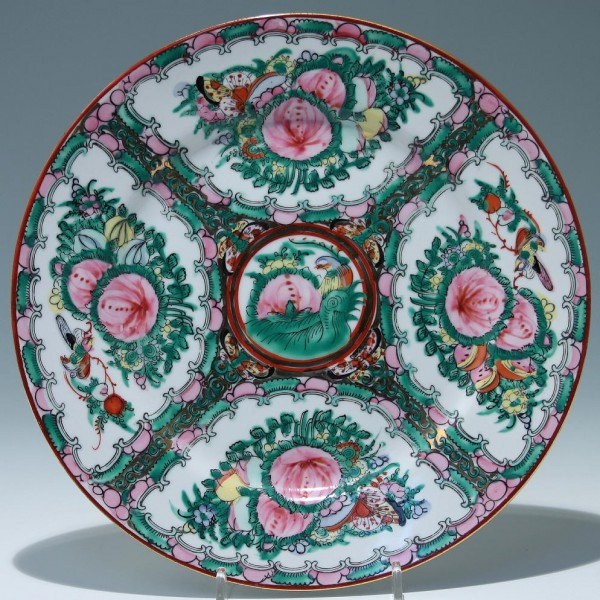 Chinese Famille Rose Porcelain Plate Ø 26,3 cm