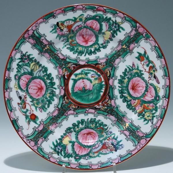 Chinese Famille Rose Porcelain Plate Ø 26,3 cm