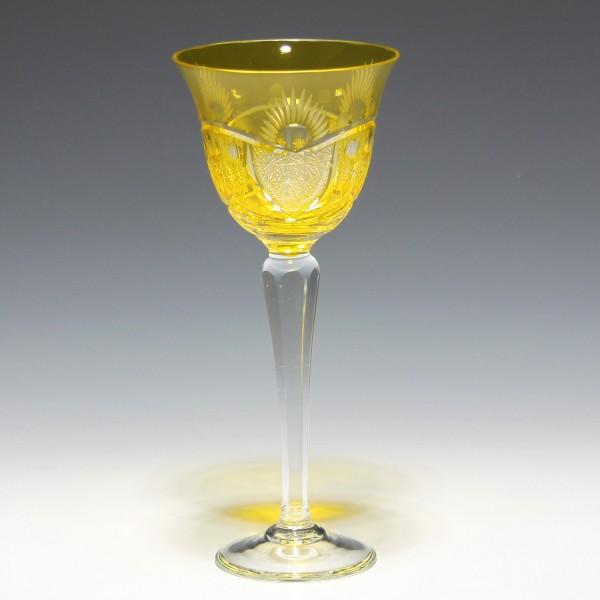Überfangrömer Kunstglas VEB GEHREN 1950er Jahre - gelb-Copy