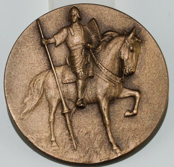 Medaille REITERBILDNIS der Münzprägeanstalt L. Chr. Lauer - 1. H. 20. Jh.