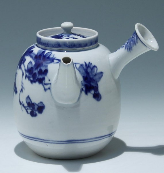 Japanese Yokode Kyusu Porcelain Teapot with Strainer