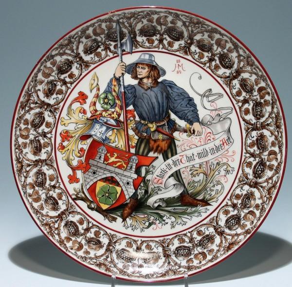 Musealer Historismus Porzellanteller - Gebr. Goedecke Hannover
