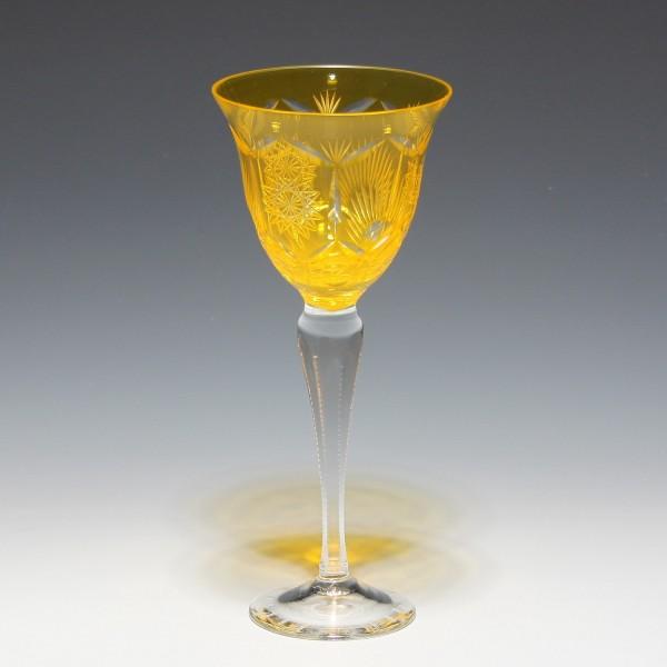 Überfangrömer Kunstglas VEB GEHREN 1950er Jahre - apricot