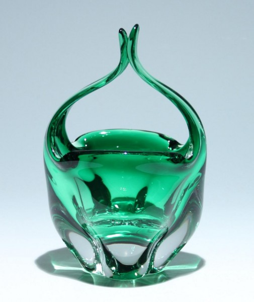 Murano Glas Henkelkorb 18,3 cm - 1288 Gramm