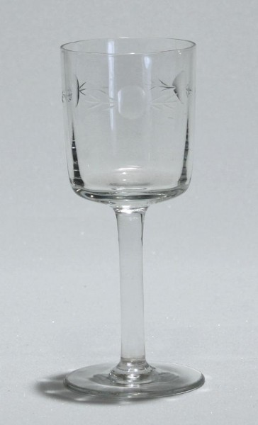 Süssweinglas mit Schliff Anfang 20. Jh.