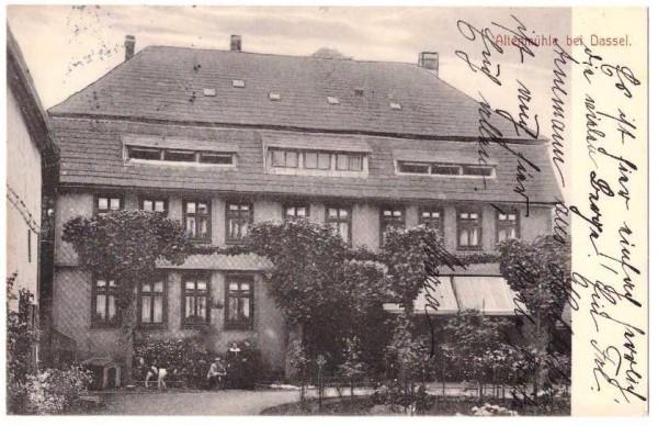 Ansichtskarte ALTENMÜHLE BEI DASSEL - Bahnpoststempel #ak0017