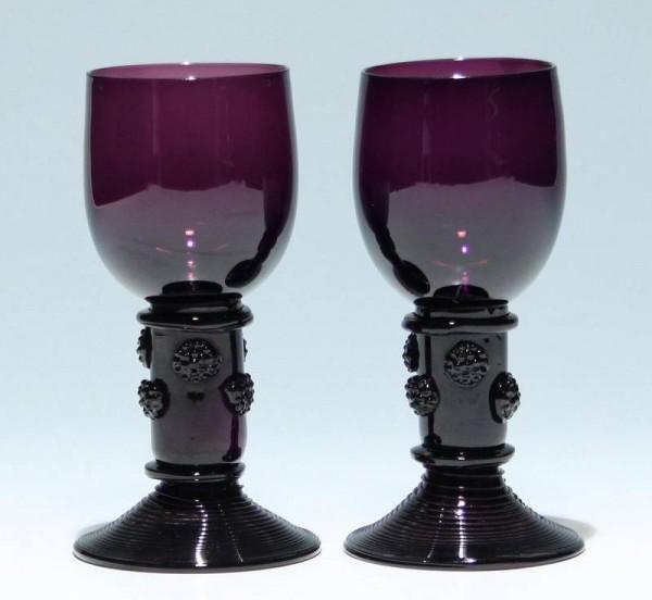 2 violette Römer Deutschland 19. Jahrhundert