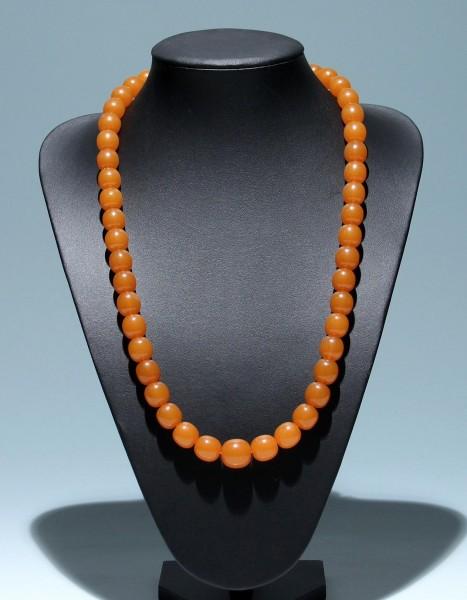 Butterscotch Bakelit no Amber Oliven Halskette 1930er Jahre - 72 cm