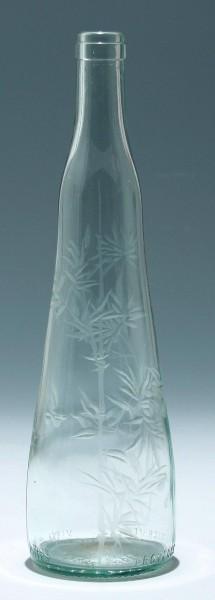 Frz. Weinflasche mit Bambusgravur