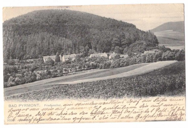 Ansichtskarte BAD PYRMONT - gelaufen 1907 #ak0034