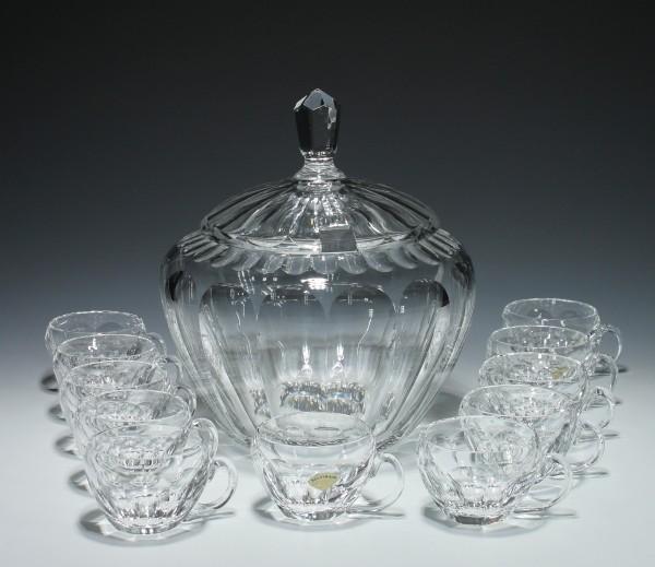 Nachtmann Bleikristall Bowle + 11 Tassen SONJA-Copy