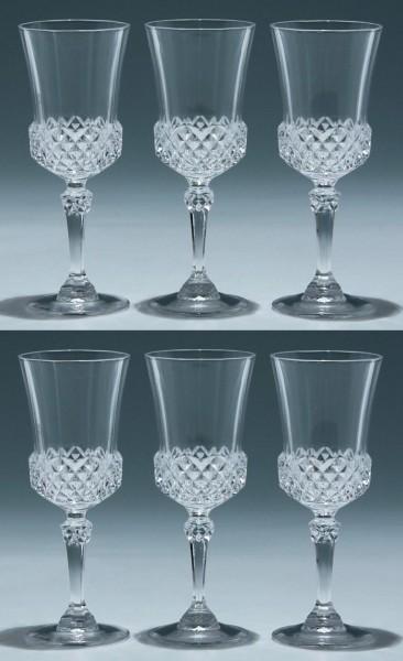 6 Cristal d`Arques Kelchgläser VALENCAY - 15,5 cm