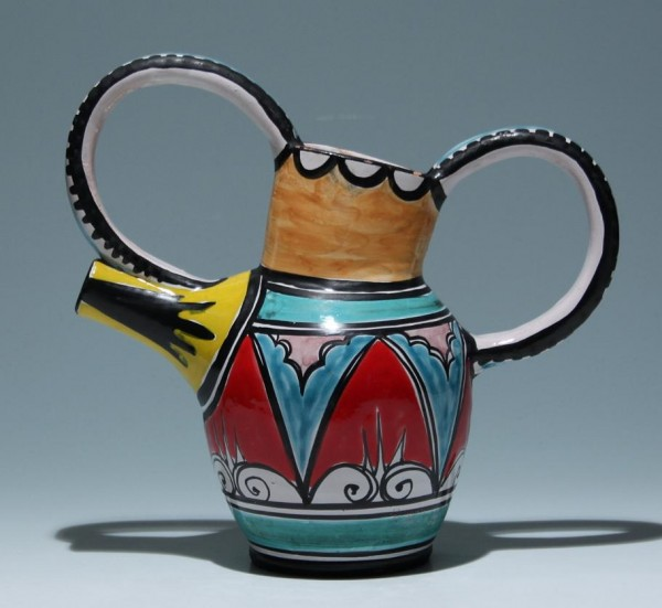 Handpainted Pottery Pitcher 1950s
