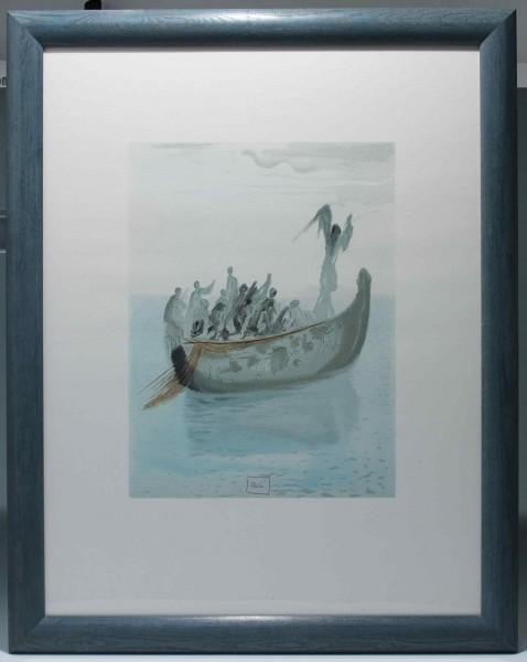 Salvador Dali - Divine Comédie: La Barque de Nocher 65 x 50 cm