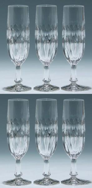 6 Nachtmann Bleikristall Sektgläser EDELWEISS