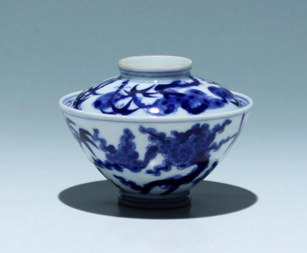 Tasse mit Deckel mit Bambusdekor - China 20. Jh.