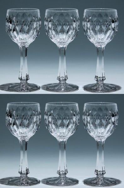 6 Nachtmann Bleikristall Weingläser EDELWEISS 17 cm