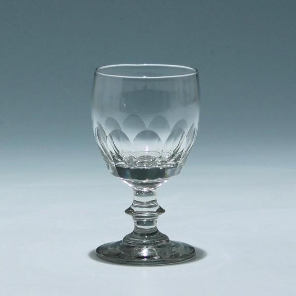 Kelchglas mit Flächenschliff - 2. H. 19. Jh. - 12 cm