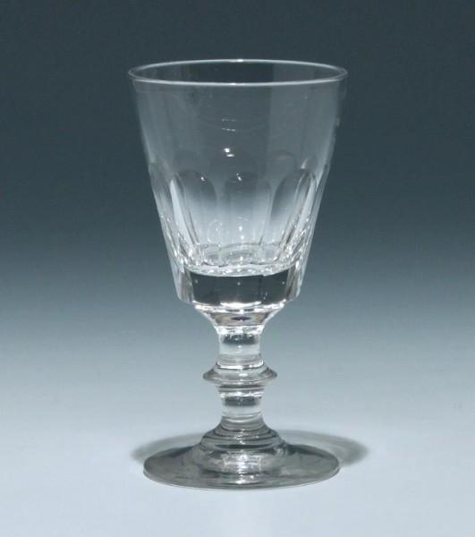Bleikristall Kelchglas Frankreich 19. Jh. - Höhe 11,5 cm