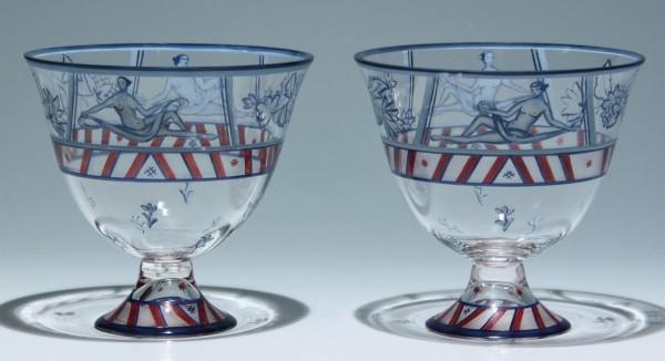 Paar Pokale signiert V. Wieselthier Wiener Werkstätte um 1917