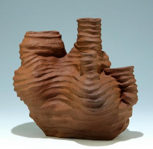 Große Studiokeramik Vase mit ungedeuteter Ritzsignatur