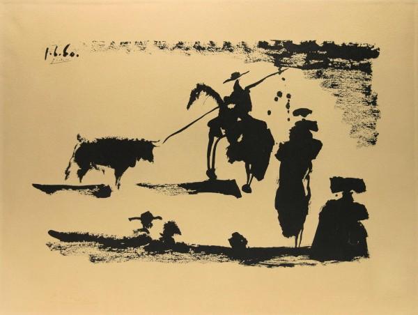 Picasso Lithografie - Corrida - Avant la pique - 1960 Jacomet EURO ART 1975 No. 141/2000