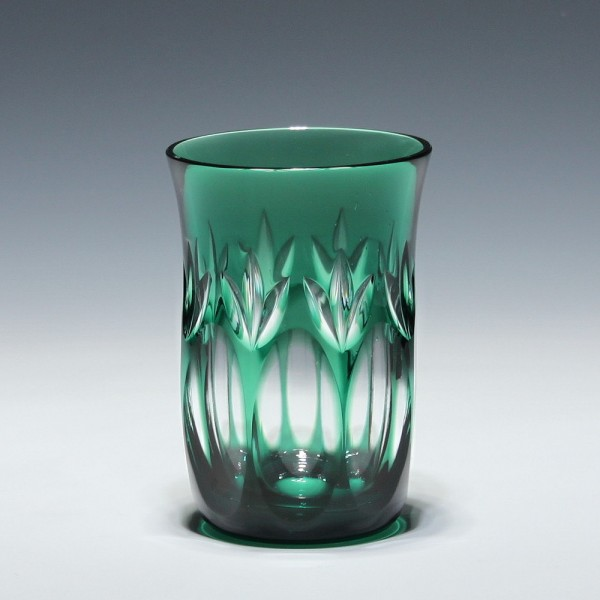 WMF Bleikristall Überfang Becherglas CABINET - smaragd-Copy