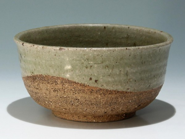 Japanese Stoneware Bowl with Celadon Glaze - 19/20th. C. - Ø 21 cm