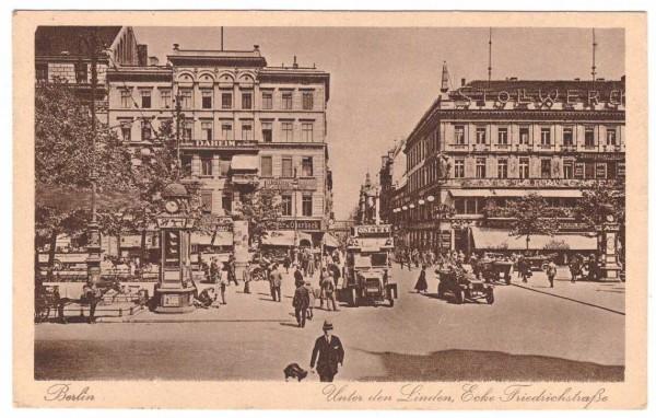 Ansichtskarte BERLIN UNTER DEN LINDEN - gelaufen 1924 #ak0047