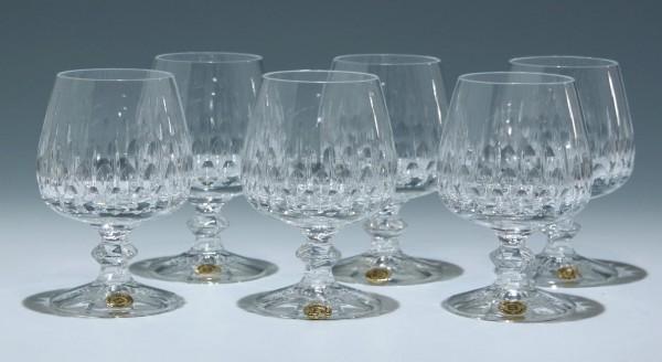 6 Bleikristall Cognacgläser FLAMENCO Schott Zwiesel 1970er Jahre