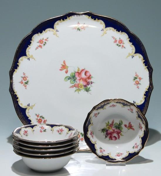 Winterling Porzellan Platte und 6 Schalen