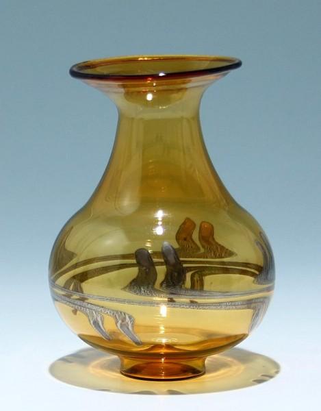 Lampengeblasene Vase DDR 1960/70er Jahre 12,5 cm