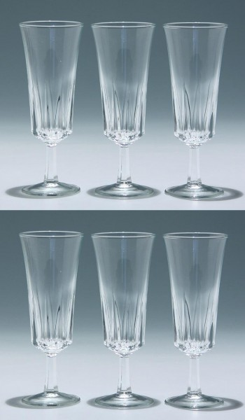 6 Cristal d`Arques Sektflöten REGENCY
