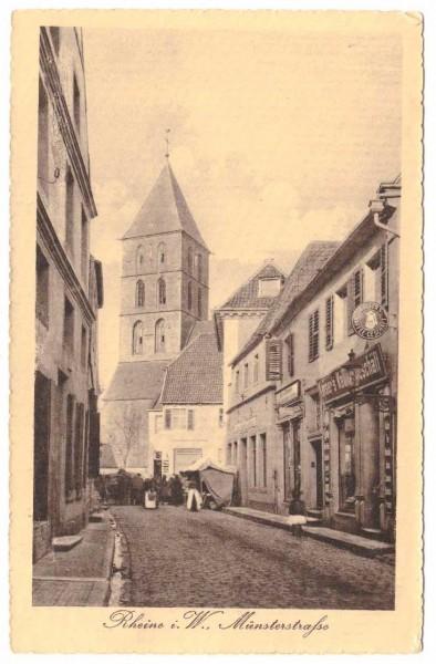 Ansichtskarte RHEINE MÜNSTERSTRASSE - gelaufen 1916 #ak0061