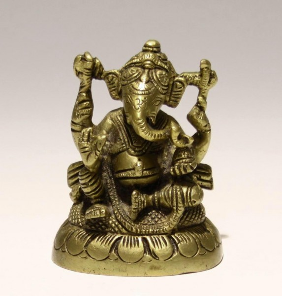 Indian Casted Brass Ganesha - 20th. C.