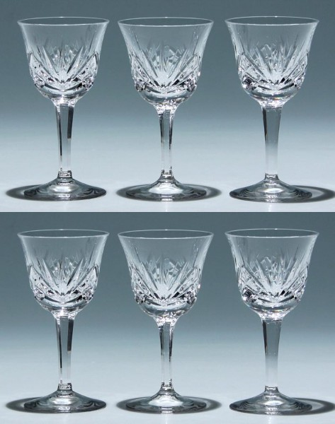 6 Nachtmann Bleikristall Südweingläser NIERSTEIN 12,4 cm