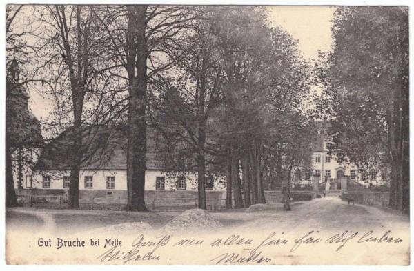 AK - GUT BRUCHE BEI MELLE - gelaufen 1904 - fleckig - #ak0128