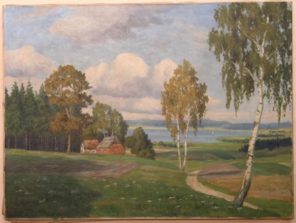 Ölgemälde SEELANDSCHAFT von ERNST LUCKE (1885 - 1950)