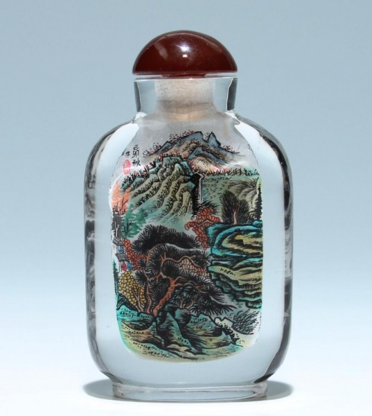 Chinese Inside Painted Crystal Snuff Bottle