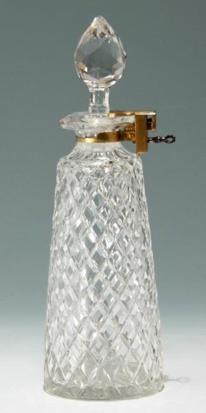 BETJEMANN`s PATENT Locked Lead Crystal Decanter - England circa 1890