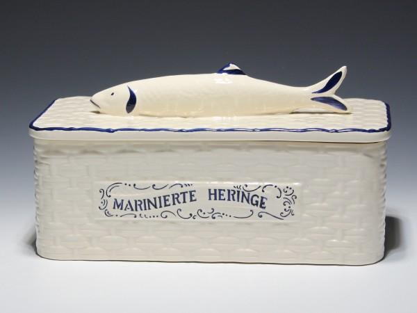 Art Deco Keramik Dose MARINIERTE HERINGE - Zell am Harmersbach