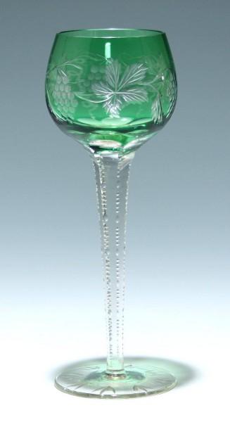 Bleikristall Überfangrömer mit Weinlaub 1. Hälfte. 20. Jh.