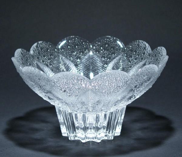 Kristallschale MEDEA Lausitzer Glas 1980 17 cm (Goldmedaille LHM 1981)