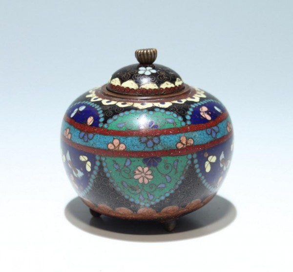 Small Japanese Cloisonne Jar - circa 1900