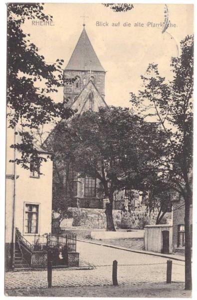 Ansichtskarte RHEINE - ALTE PFARRKIRCHE - gelaufen 1911 #ak0067
